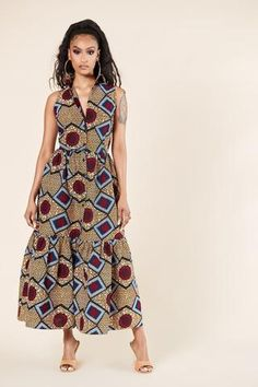 African Print Clothing, African Inspired Fashion, Ankara Dress, Gathered Skirt, Plus Size Model, Style Inspiration, Older Women, Fields, Clothes