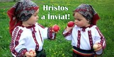 Cracking Eggs at Easter in Romania. Christ has risen! March Equinox, Adorable Petite Fille, Orthodox Easter, A Moveable Feast, Central And Eastern Europe, Easter Wishes, Easter Traditions, Funny Kids, Romania