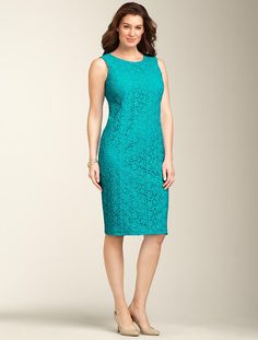 We welcome every plus-size professional woman who wants to build a closet of modern, elegant and well fitting work wear and invite you to visit www.executive-image-consulting.com for more information. Talbots - Garden-Lace Sheath | Dresses | Woman