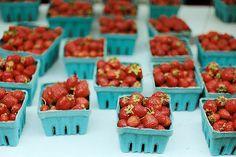 strawberries at the farmers market #splendidsummer