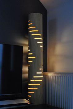 Lampe de sol 3 de contreplaqué courbé avec la texture par zyrRafo