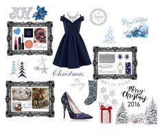 """""""Christmas day"""" by f-bourdon on Polyvore featuring mode, RALPH & RUSSO, Fortuny, Chi Chi, MAC Cosmetics, Bobbi Brown Cosmetics, NARS Cosmetics, Milani, Sole Society et Harry Winston"""