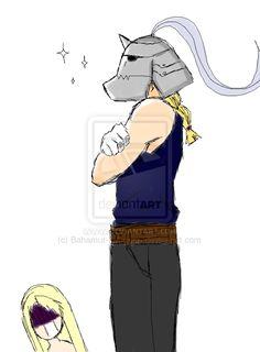Edward wearing Alphonse's helmet by Bahamut-Dragoon on deviantART