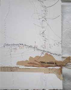 Stéphanie Devaux - -Ton paper, machine and hand stitching, lettering. Lovely combinations of media