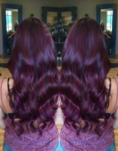 Violet red hair color with matrix color line, socolor!