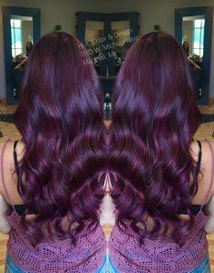 Violet red hair color with matrix color line, socolor!