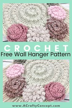 The perfect free crochet pattern for spring home decor. This crochet floral wall hanger is sure to make a statement in any room! projects for the home decor How To Make An Easy Crochet Tapestry- Quick And Free Pattern Crochet Dreamcatcher Pattern Free, Crochet Flower Patterns, Crochet Flowers, Modern Crochet Patterns, Crochet Wall Art, Crochet Wall Hangings, Crochet Decoration, Crochet Home Decor, Crochet Gifts