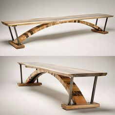 From @thecitybench. This table has us arching our neck to get a look at that detail!