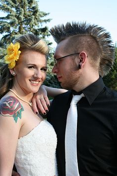 Hot pinup hair and a mohawk... true love!