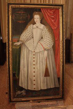 Portrait of Lady Arbella Stuart. By an unknown artist, 1589.
