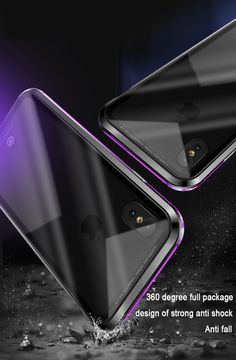 Bakeey Upgraded Version Magnetic Adsorption Metal Clear Glass Protective Case for iPhone X BazaCenters. Magnetic Frames, Protective Cases, Clear Glass, Magnets, Iphone Cases, Phone Accessories, Metal, Apple, Apple Fruit