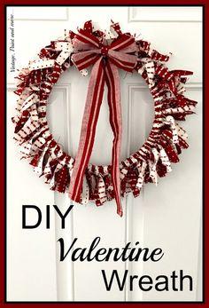 DIY Valentine Wreath from VintagePaintandMore.com