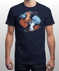 """""""Of Fire and Ice"""" is today's £8/€10/$12 tee for 24 hours only on www.Qwertee.com Pin this for a chance to win a FREE TEE this weekend. Follow us on pinterest.com/qwertee for a second! Thanks:)"""