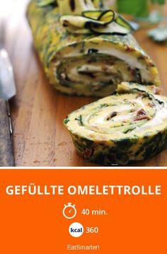 Gefüllte Omelettrolle