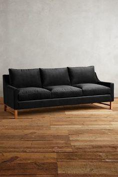 Anthropologie Velvet Dorada Sofa