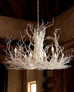 Old Chandelier Branches Wire And Spray Paint