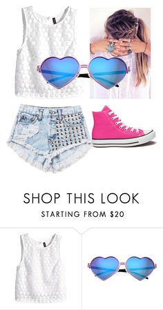 """sweet girls"" by katy-perry25 ❤ liked on Polyvore featuring beauty, H&M, Wildfox and Converse"