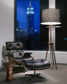 Eames Chair, Lamp And View