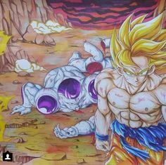 Goku... saga Freeza. Créditos ao autor.