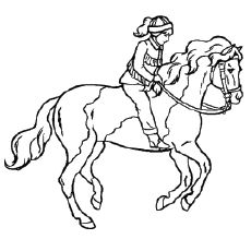 thoroughbred coloring pages - photo#25