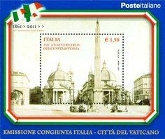 Italy Stamp 2011 - 150º anniversario dell'unità d'Italia - emissione congiunta Città del Vaticano