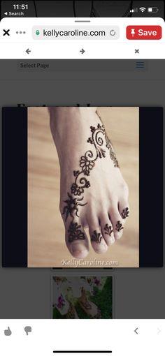 Henna Tattoo Foot, Foot Tattoos, Tribal Tattoos