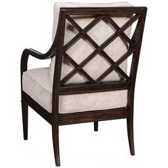 A rich, espresso finish complements the fawn upholstery of this stylish X-back accent chair. X-back accent chair. Style # at Lamps Plus. Art Furniture, Accent Furniture, Simple Addition, Wood Arm Chair, Family Room, Accent Chairs, Armchair, Upholstery, Living Room