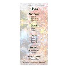 Designs by Susan Savad - Autumn Lake Wedding Menu -- Autumn wedding menu that you can customize yourself. #wedding #weddingmenu #customize #autumn   $0.55  per card   BULK PRICING AVAILABLE!