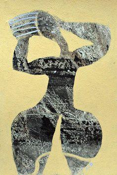 "# 1459 ""Belleza"" by Canadian artist Scott Bergey (b.1967). mixed media on paper, 15 x 11."" via scottbergeyart on flickr"