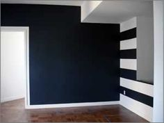 love the stripes - wrought iron - Benjamin Moore