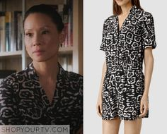 Joan Watson (Lucy Liu) wears this white and black leopard print playsuit in this week's episode of Elementary. It is the AllSaints [...]