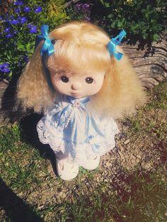 CELINE my child doll - platinum crimped, brown eyes, grape makeup