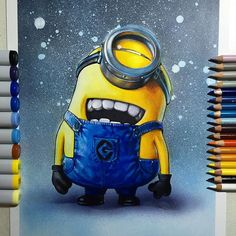 I know there's a lot of these going around, but I love em! So have a Minion! Done on Strathmore Bristol Board smooth using Copic Markers and Prismacolors. #minion #drawing #sketch #illustration #artwork #art #fanart #prismacolor #copic #copicart #disney #cartoon #animation