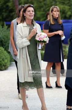 Princess Caroline of Hanover arrives to visit the 'Danse, Danse, Danse' exhibition at the 'New National Museum of Monaco' in Monaco on September The exhibition will run from September 23 to January / AFP / VALERY Arabic Wedding Dresses, Prince Albert Of Monaco, Grace Kelly Style, Monaco Royal Family, Princess Stephanie, Royal Dresses, Fashion Show, Fashion Outfits, Queen Dress