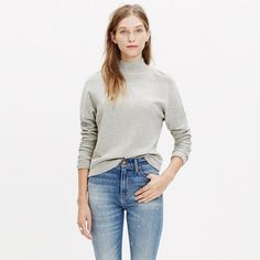 With its sleek mockneck and slouchy dolman sleeves, this lean top is made of an ultra-soft knit with just a touch of wool for extra warmth.  <ul><li>Classic fit.</li><li>Cotton/viscose/wool.</li><li>Hand wash.</li><li>Import.</li></ul>