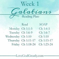 #LoveGodGreatly Week 1- #Galatians Bible reading plan!!! Tag your friends and join us for these next 6 weeks as we go through the book of #Galatians, one chapter each week!  #LoveGodGreatly #WomenOfTheWord #WomenOfFaith #ChristFollowers #OnlineBibleStudy #InfluenceNetwork #BibleReadingPlan #BibleJournaling #BibleStudy #Bible #Christian
