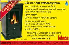FINN – vedfyrt komfyr med stekeovn, grill yta, vannkappe