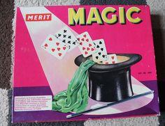 MERIT Vintage MAGIC SET (60's/70's) 8 Tricks With Instructions & Boxed