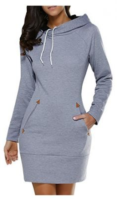 dda9c9b99fb4d  20.07 Long Sleeve Mini Hoodie Dress