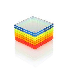 Alexandra Von Furstenberg Acrylic Coasters 8-Pack Fearless Multi Pack. $125