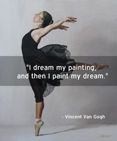 """Vincent Van Gogh Artist quote. The beautiful painting in the background is Sally Lancaster's """"Flare""""."""