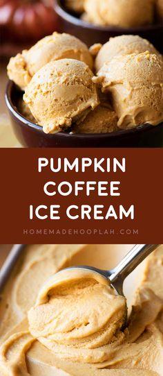 Coffee Ice Cream! Creamy and decadent pumpkin pie spice ice cream ...