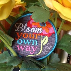 Bloom Your Own Way!! Limited edition patch from Brave Girls Club April Soul School ... we love it!! #bravegirlsclub #soulschool  #bravegirlpatches