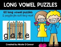 60 cute, interactive puzzles with long vowel words and pictures!