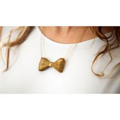 Gabriela Artigas Chain Mesh Bow Necklace ($250) ❤ liked on Polyvore