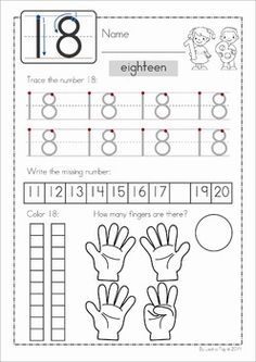 Learn to Count and Write Number 4 | Worksheets, Count and Number