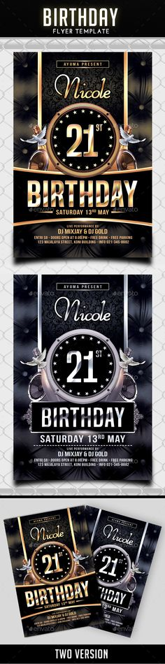 Birthday Celebration Flyer Template  Flyer Template Flyers And