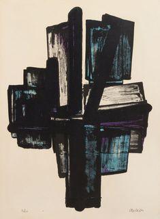 1915-1991 Lithographie Lithograph 1971 Galerie im Erker Robert MOTHERWELL