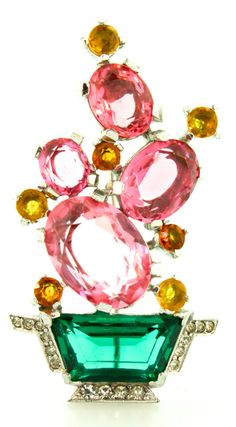 vintage-1940s-philippe-trifari-cactus-brooch pink.