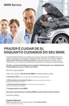 Convite Check Care na Caetano Baviera no Porto